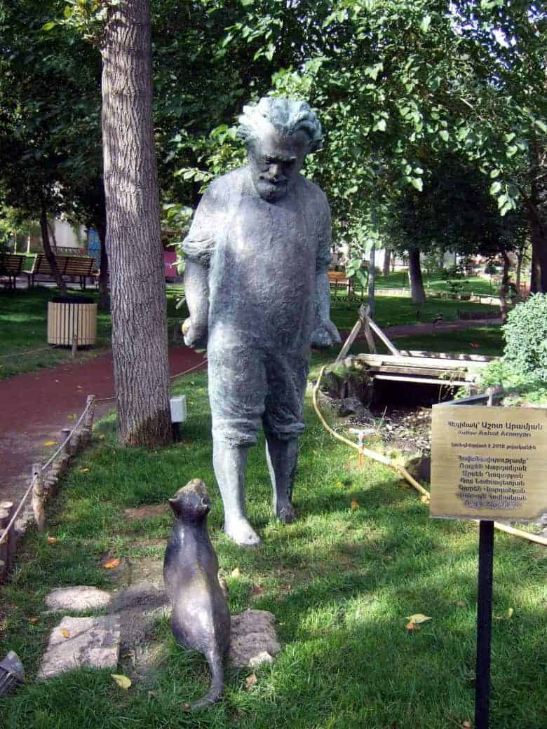 Gevorg Emin's statue in the Lover's park