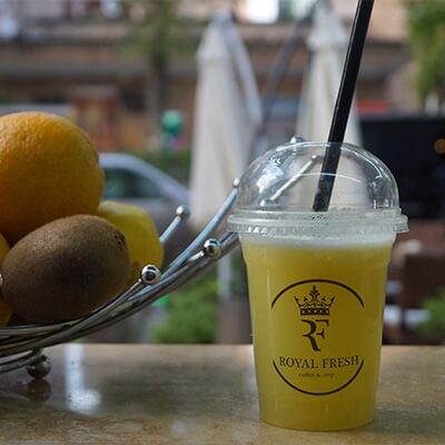 Fresh fruit smoothie's cost in Yerevan