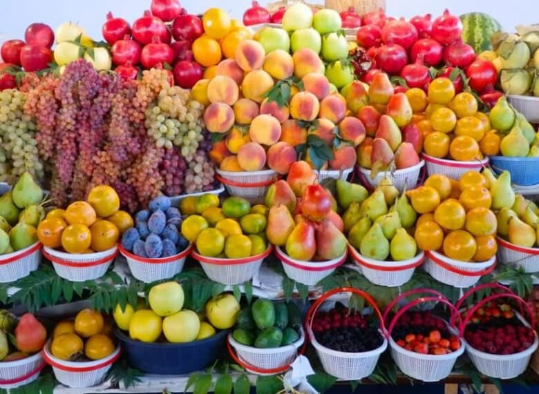 Fresh fruits and vegetables in Yerevan