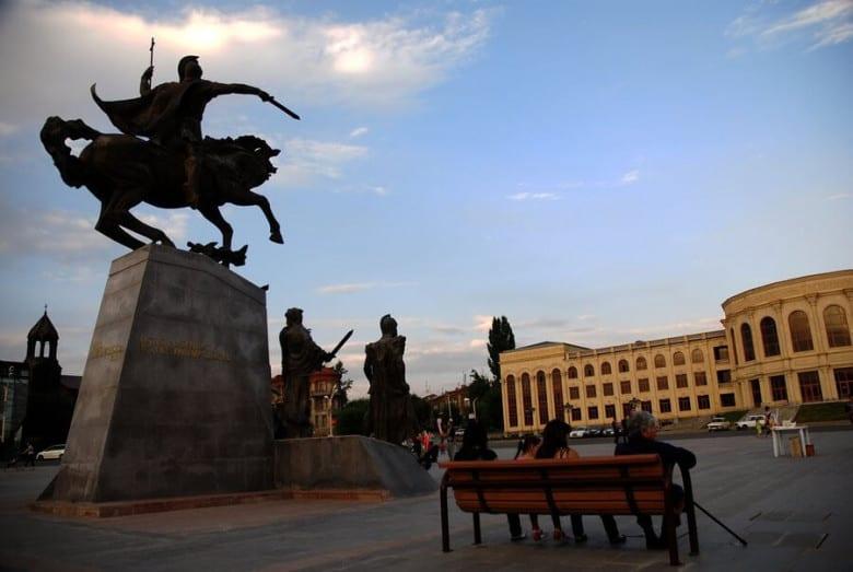 Vardan Mamikonyan's statue in Gyumri