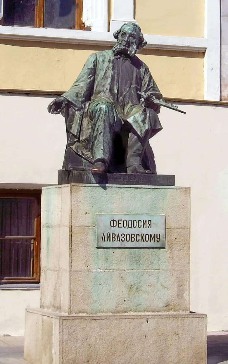Ayvazovsky's statue in Feodosiya, Crimea