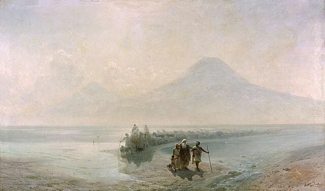 Descent of Noah from Ararat - Ivan Ayvazovsky