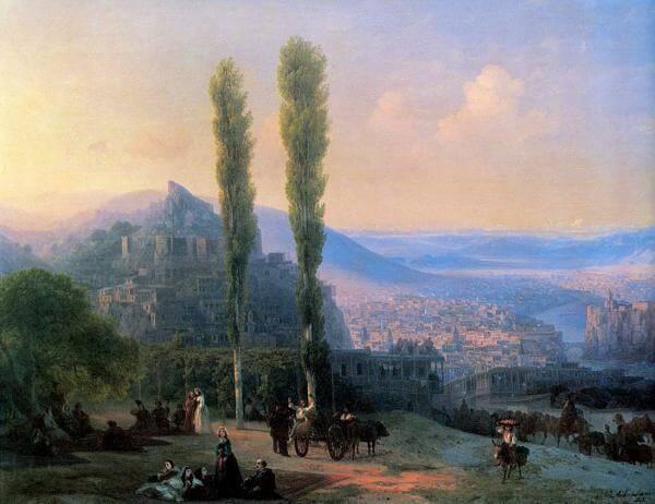 View of Tiflis - Ivan Ayvazovsky