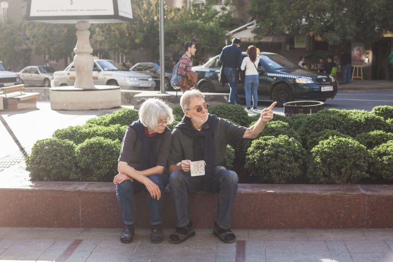 Tourists in Yerevan