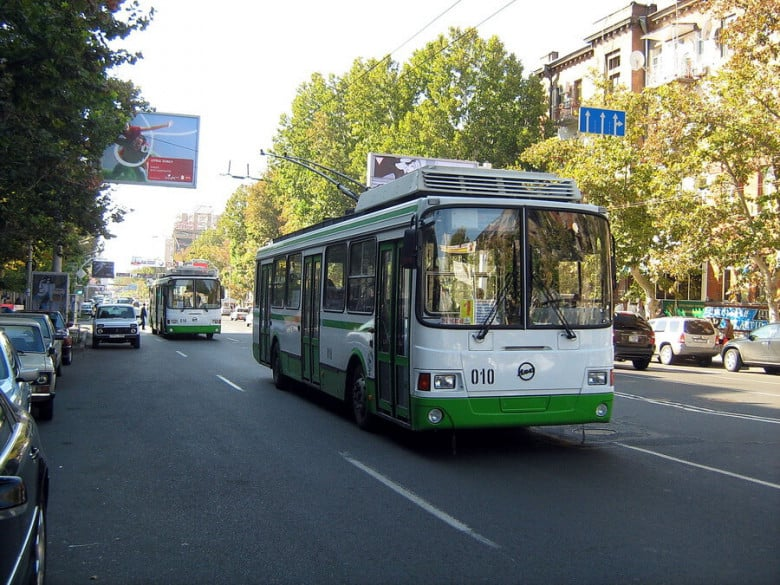 Trolleybus in Yerevan