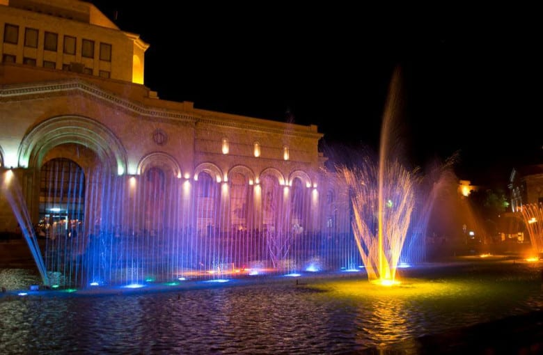 Republic Square's Singing Fountains