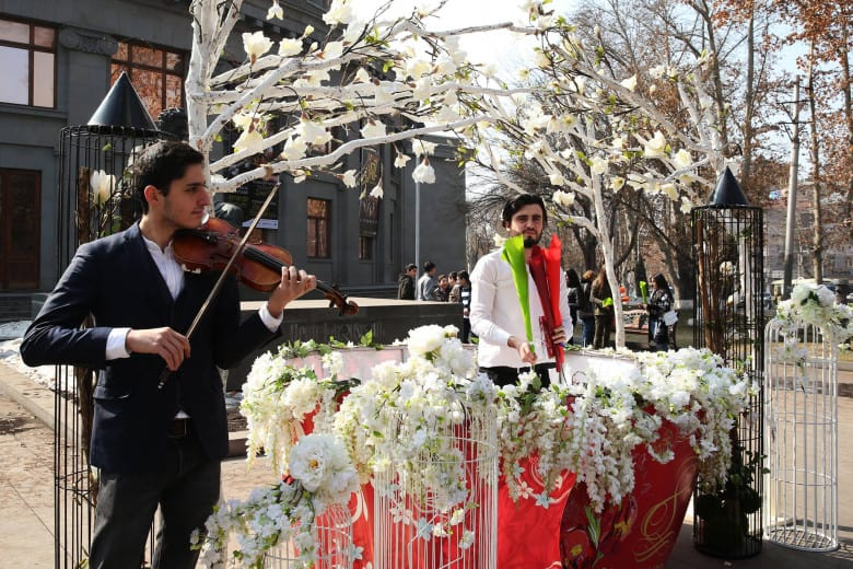 Yerevanian Streets on March 8