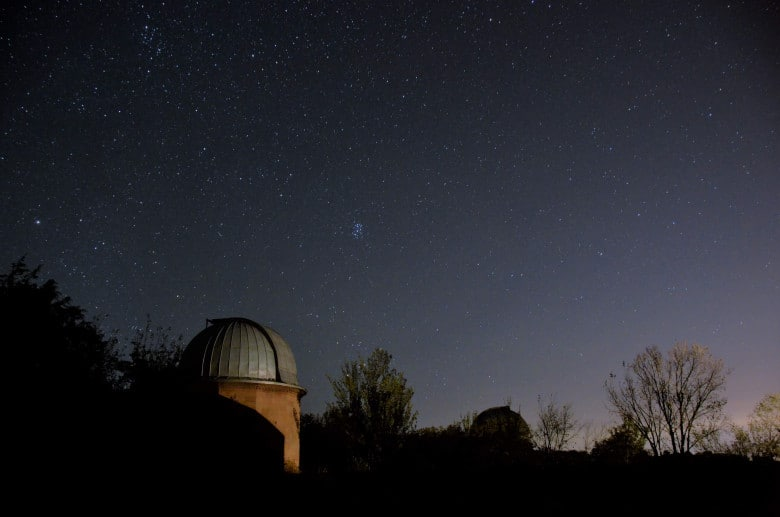 Byurakan Astrophysical Observatory at night