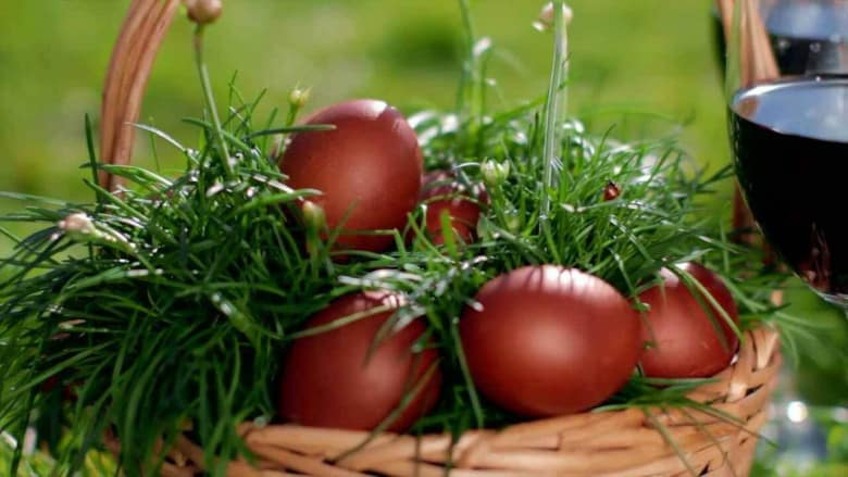Red-Dyed Eggs as a part of Armenian tables