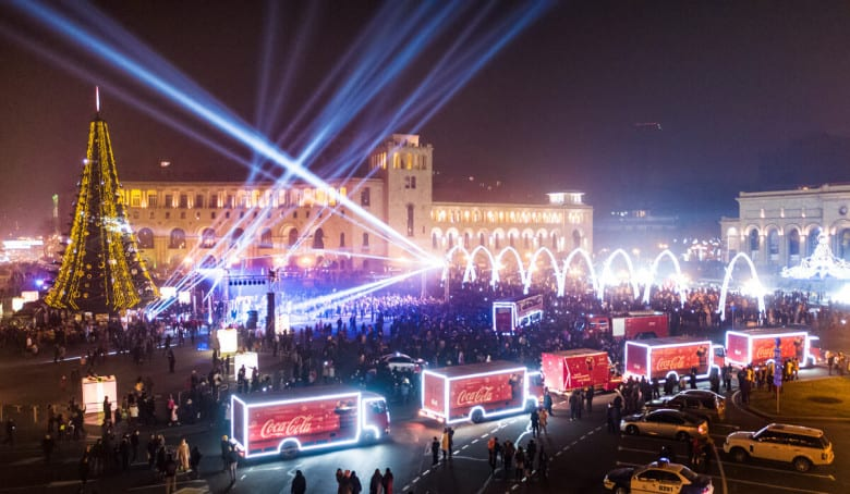 Welcome New Year night at Republic Square
