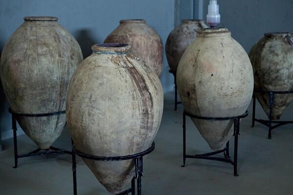 Traditional karases(clay pots)