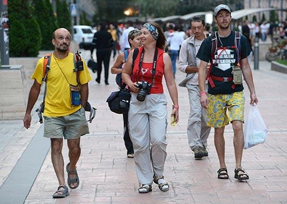 Tourists in Armenia