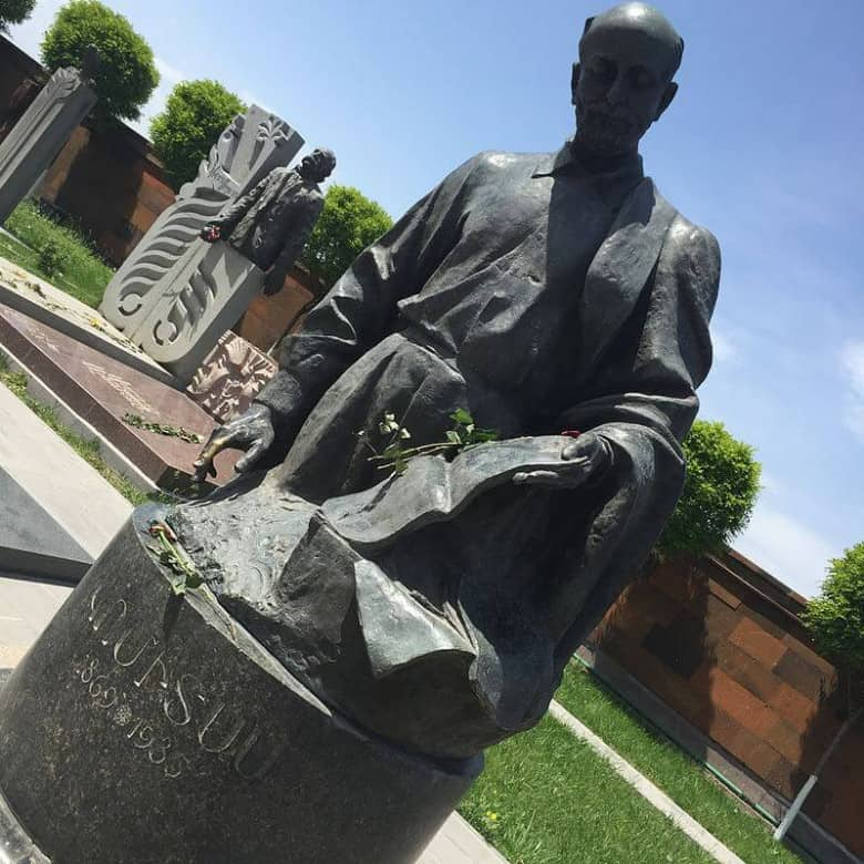 The statue of Komitas in Yerevan