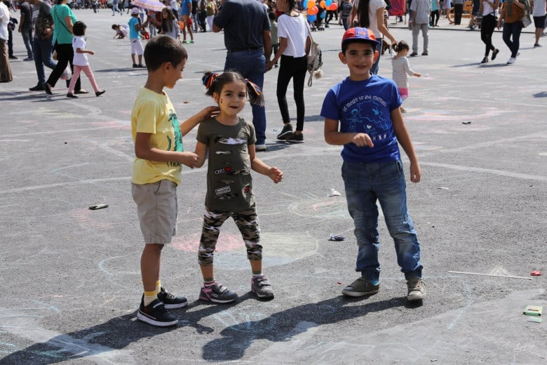 Children having such fun on Independence Day