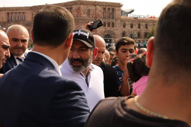 Nikol Pashinyan in Republic Square