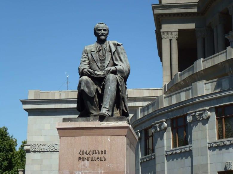 Hovhannes Tumanyan's statue in Yerevan