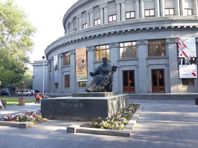 Aram Khachaturian's statue in Yerevan